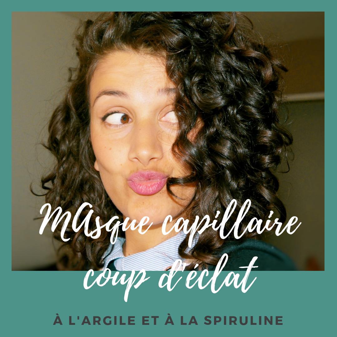 MASQUE CAPILLAIRE COUP D'ÉCLAT ARGILE ET SPIRULINE